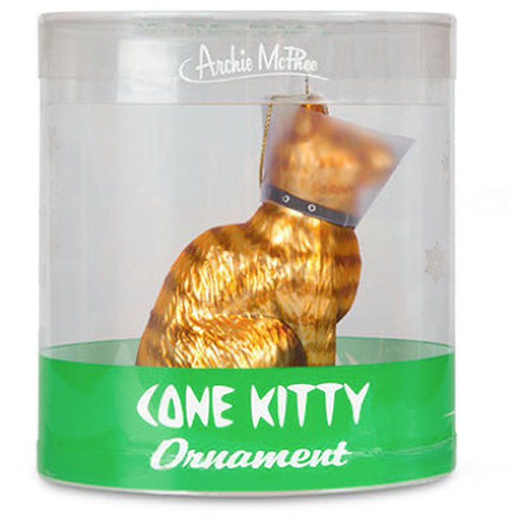 Cone Kitty Glass Ornament package