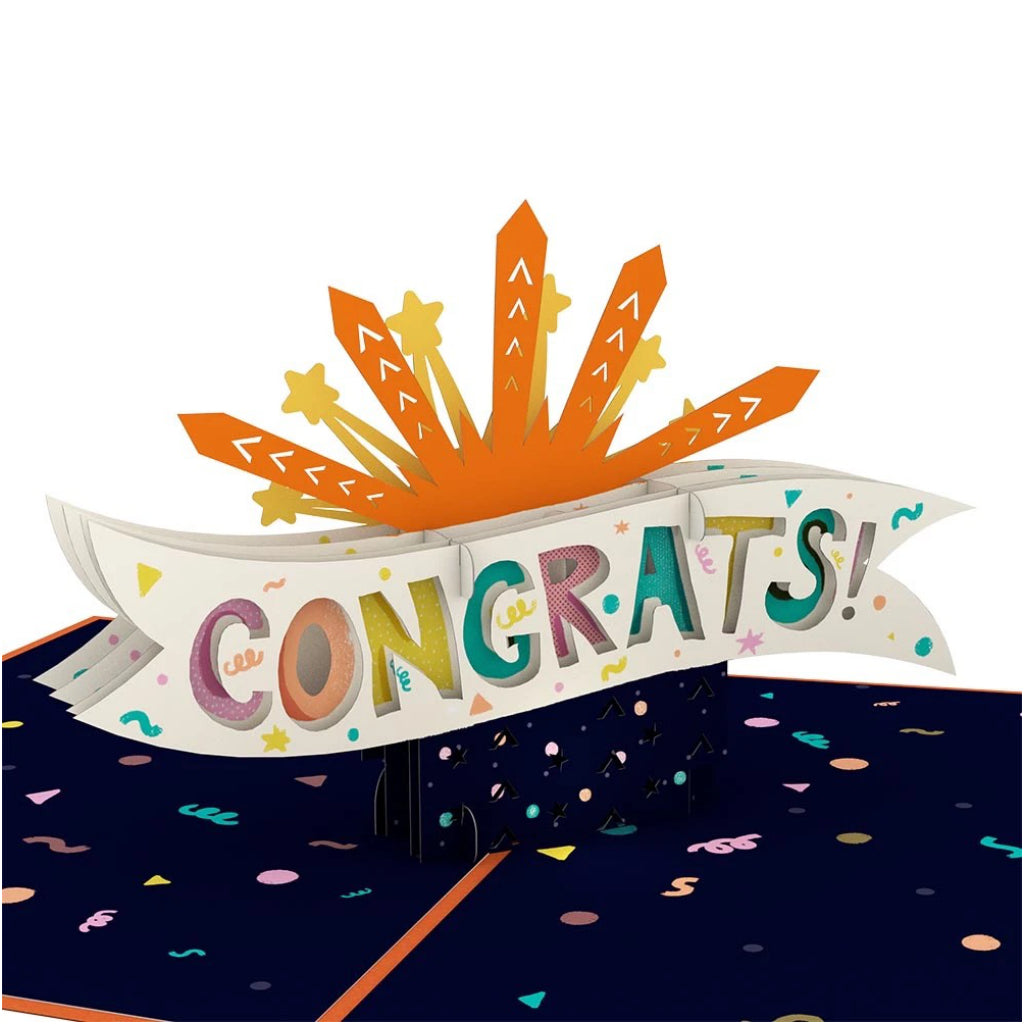 Congrats Explosion 3D Pop Up Card