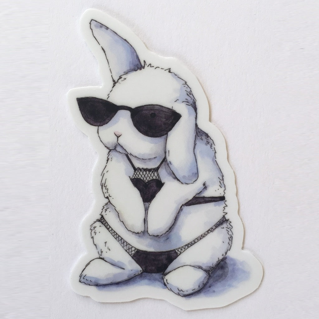 Cool Bunny Sticker