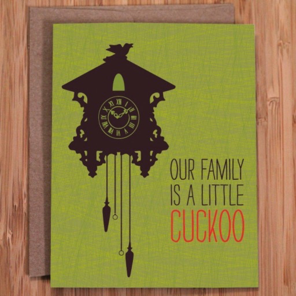 Cuckoo Fam Birthday Card