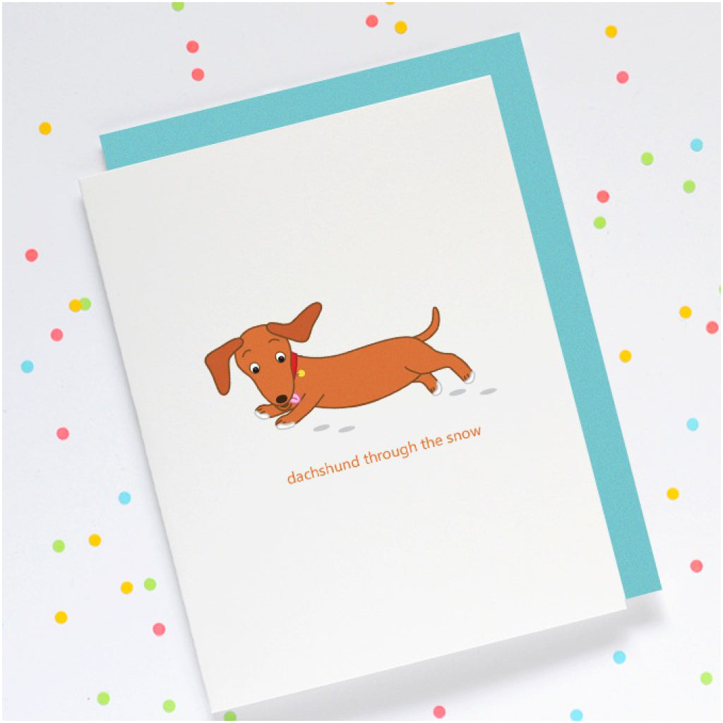 Dachshund Through The Snow Card