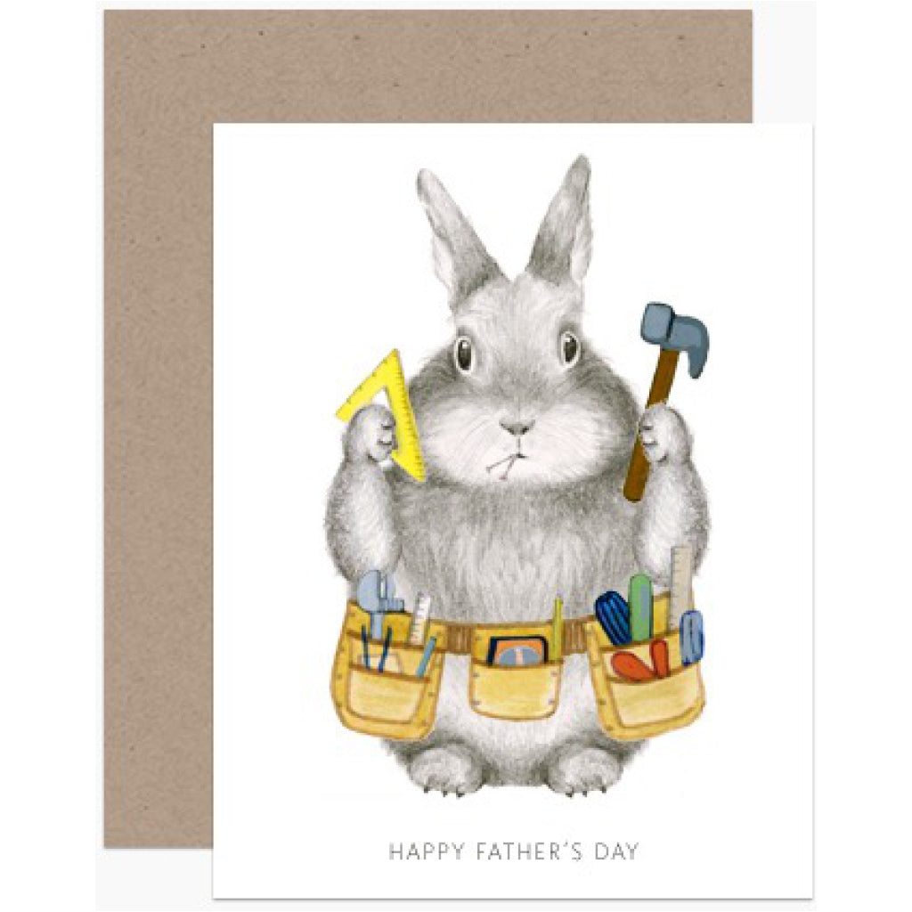 Dad Bunny Father's Day Card