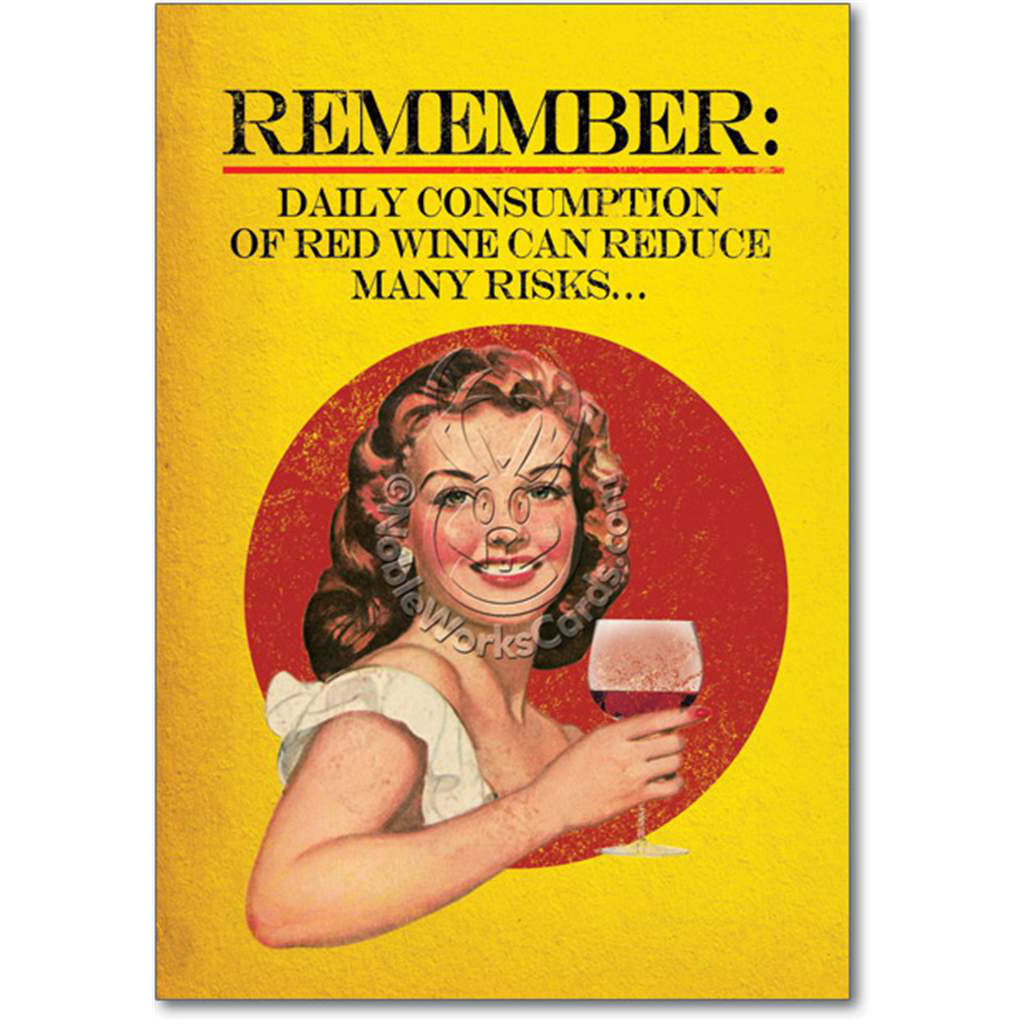 Daily Consumption of Wine Card
