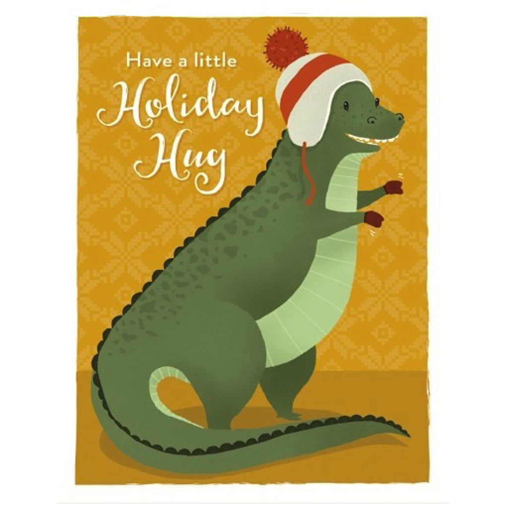 Dino Hug Christmas Card