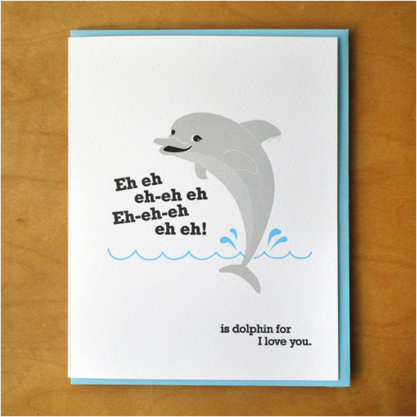 Dolphin Love Card