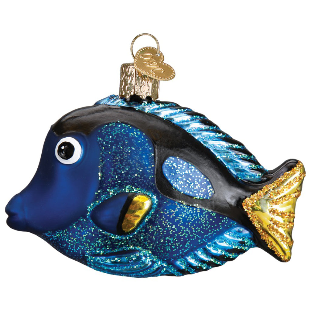 Dory Pacific Blue Tang Fish Ornament Side