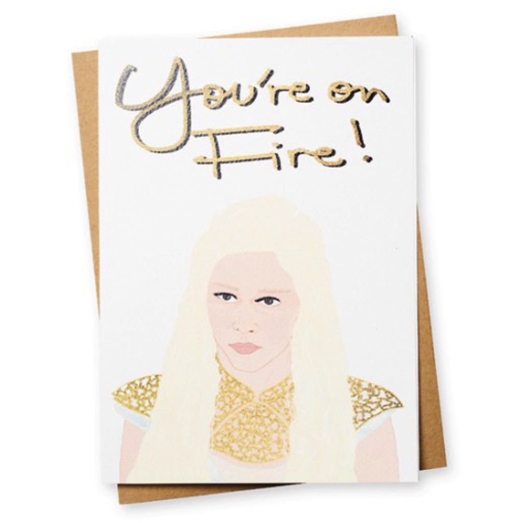 Dragon Queen Game of Thrones Greeting Card