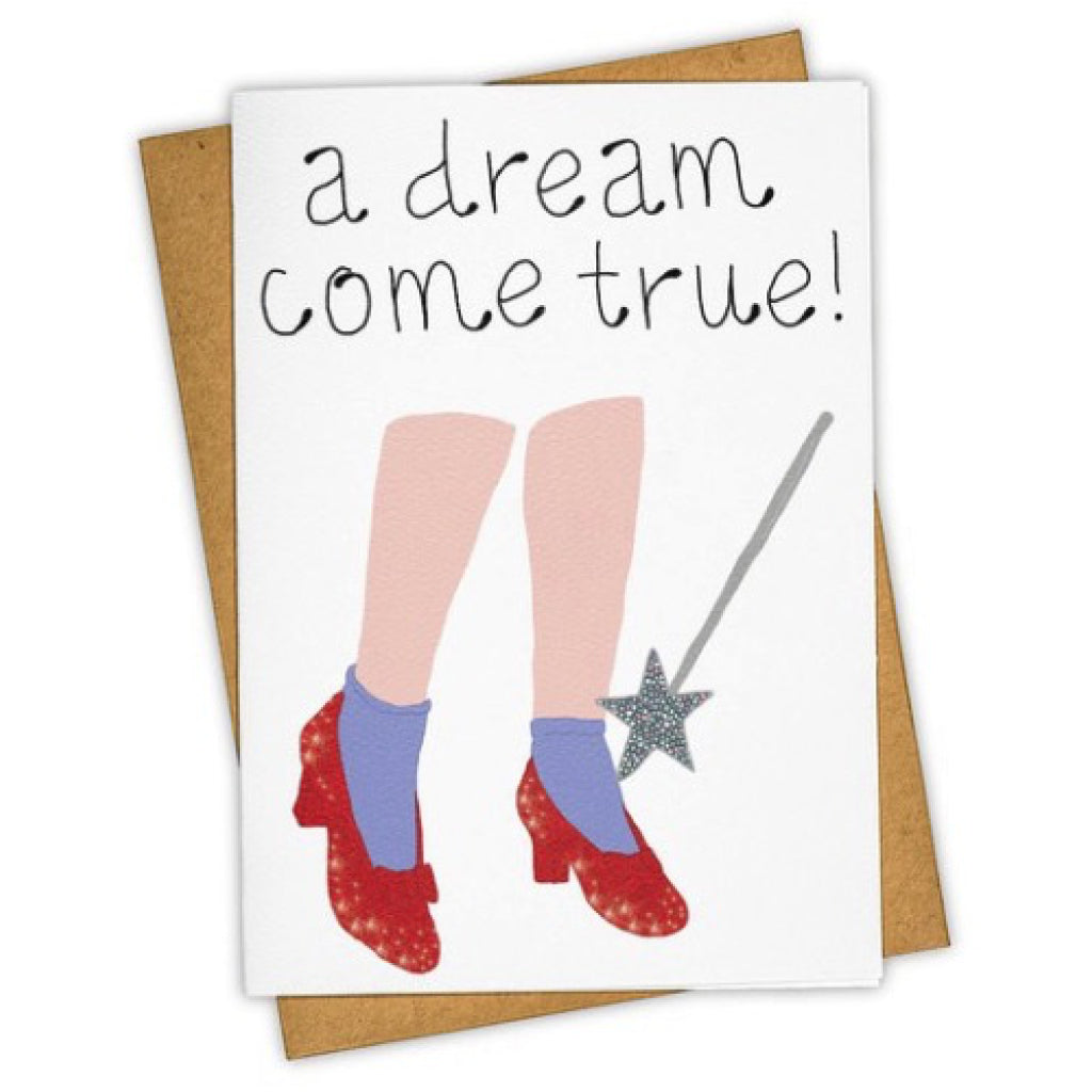 Dreams Come True Ruby Slippers Card