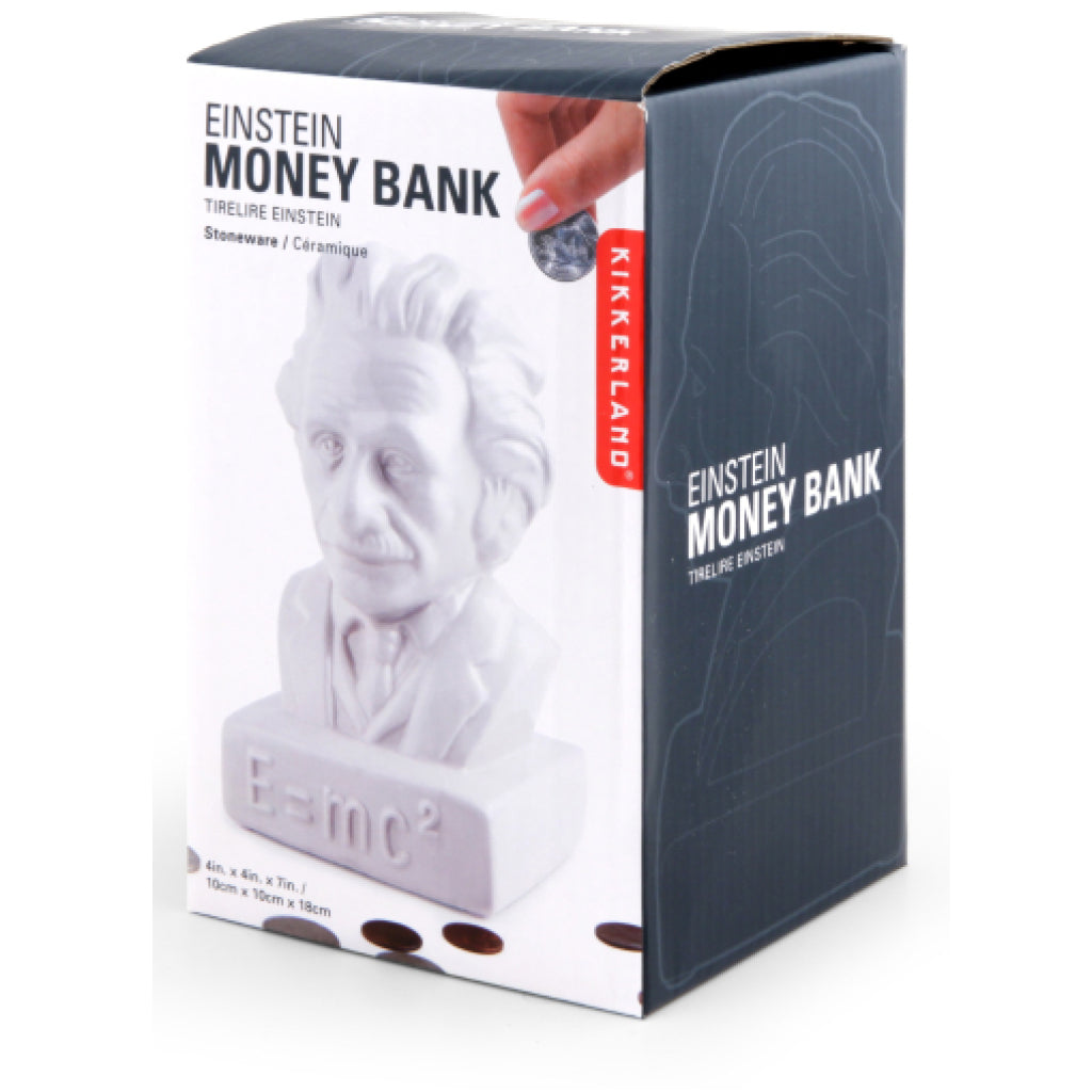 Einstein Coin Bank box