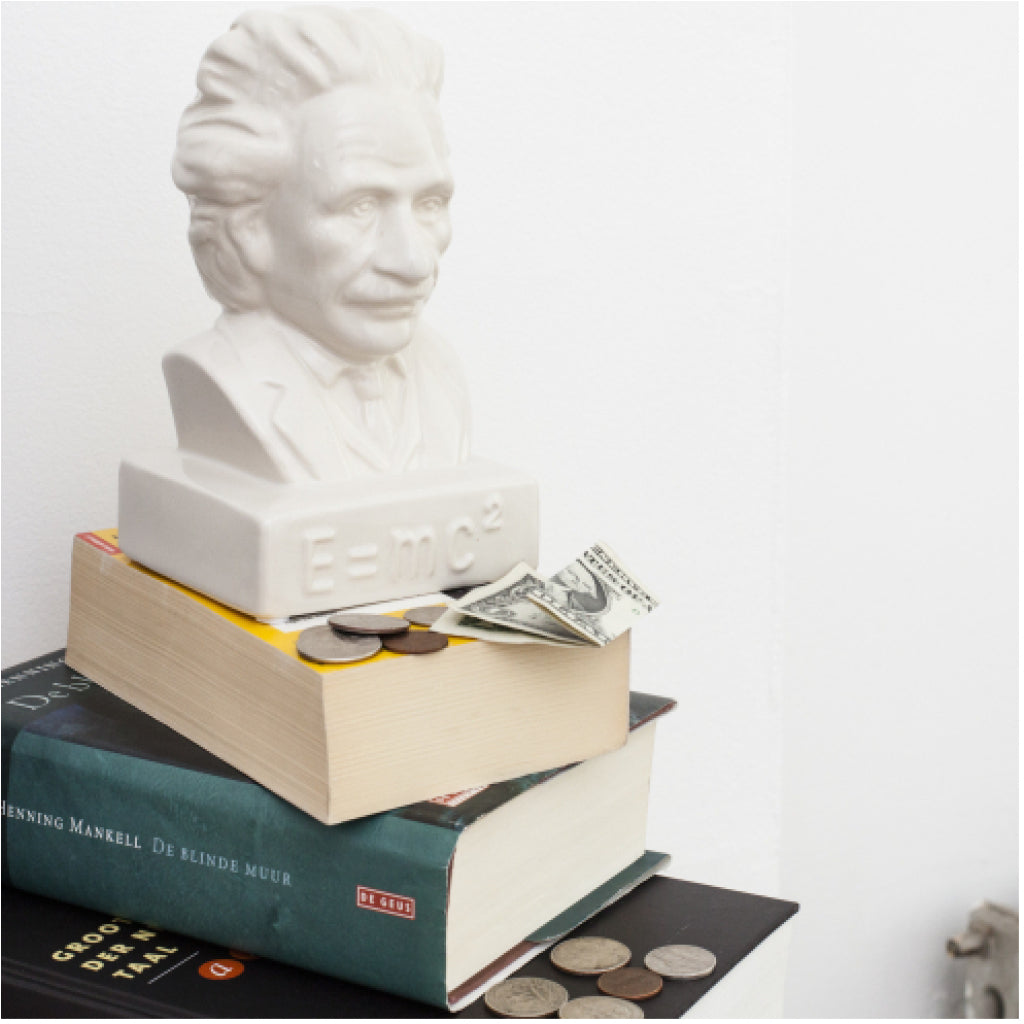 Einstein Coin Bank lifestyle shot 2