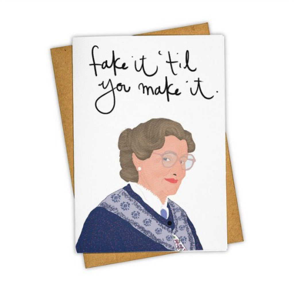 Fake It Mrs. Doubtfire Card
