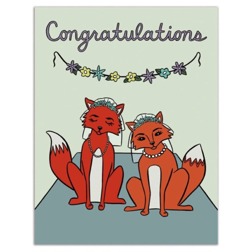 Female Foxes Card