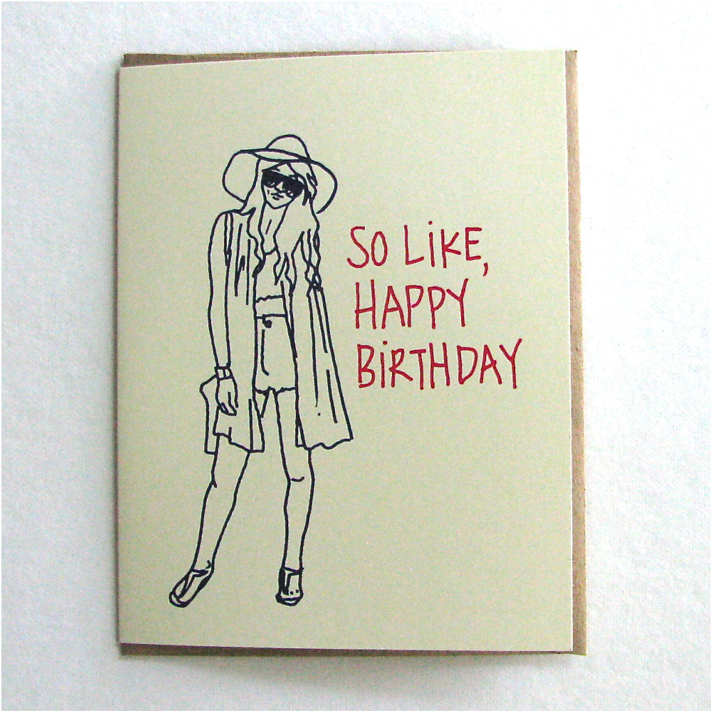 Festival Girl Birthday Card