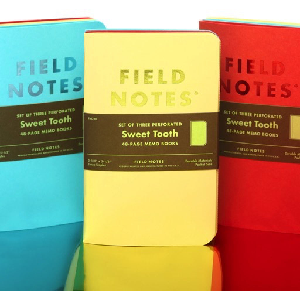 Field Notes Sweet Tooth 3-Pack lifestyle