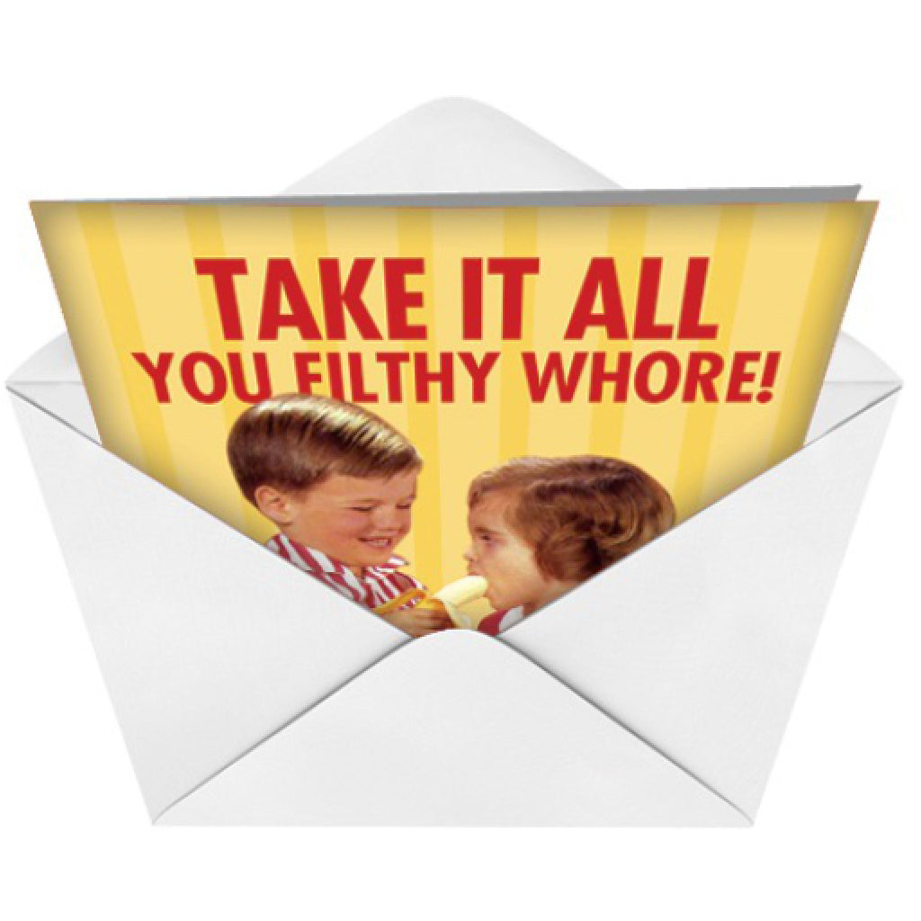 Filthy Whore Banana Card envelope
