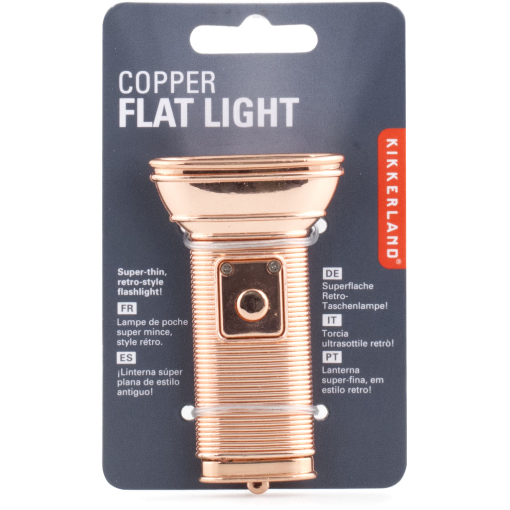 Flat Flashlight Copper packaging