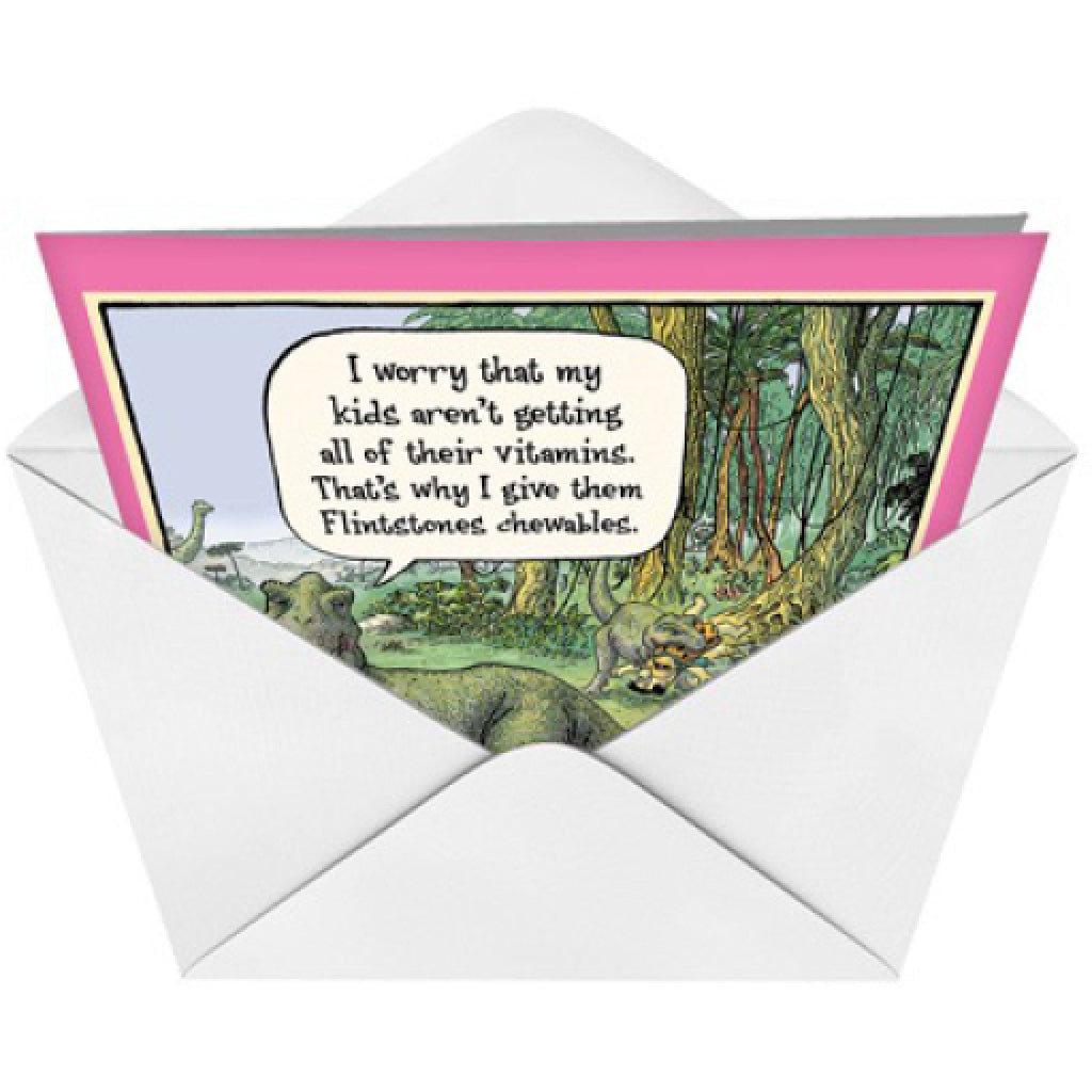 Flintstones Vitamins Dinosaur Card envelope