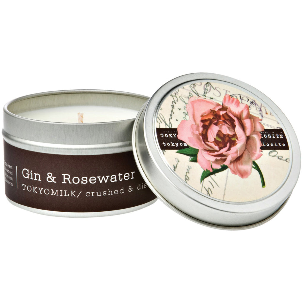Gin & Rosewater Tin Candle No.12