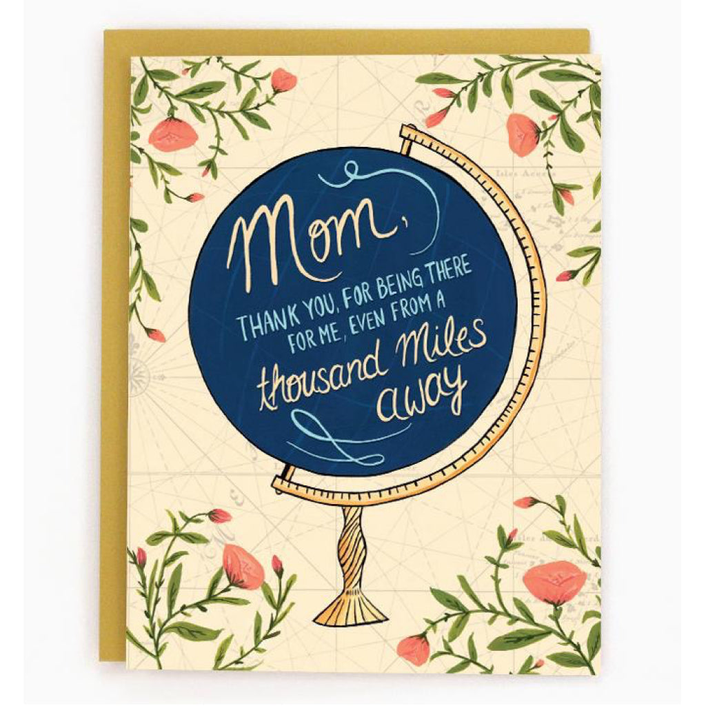 Globe Mother's Day Card