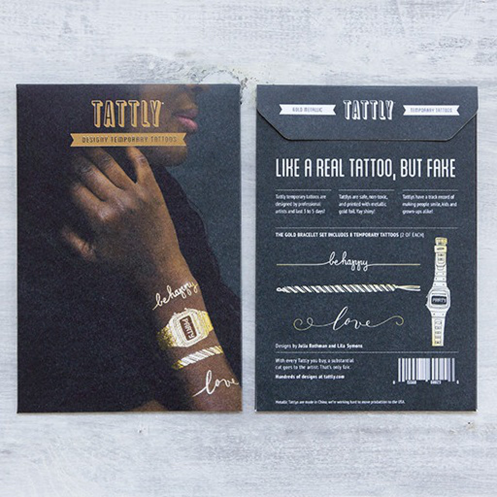 Gold Bracelet Temporary Tattoo Set lifestyle shot