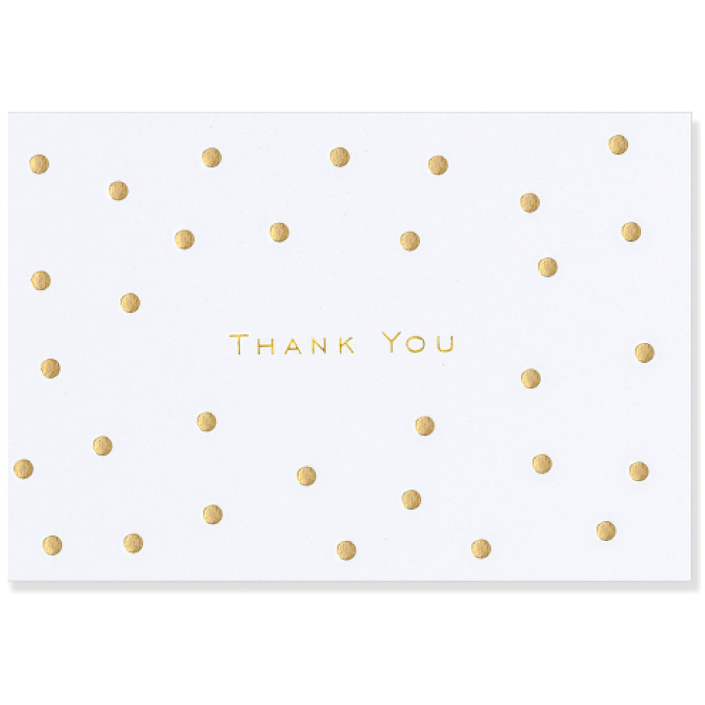 Gold Dots Thank You Note Cards