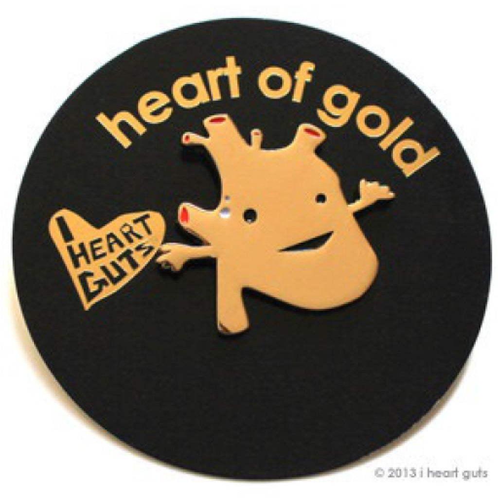 Gold Heart Lapel Pin package