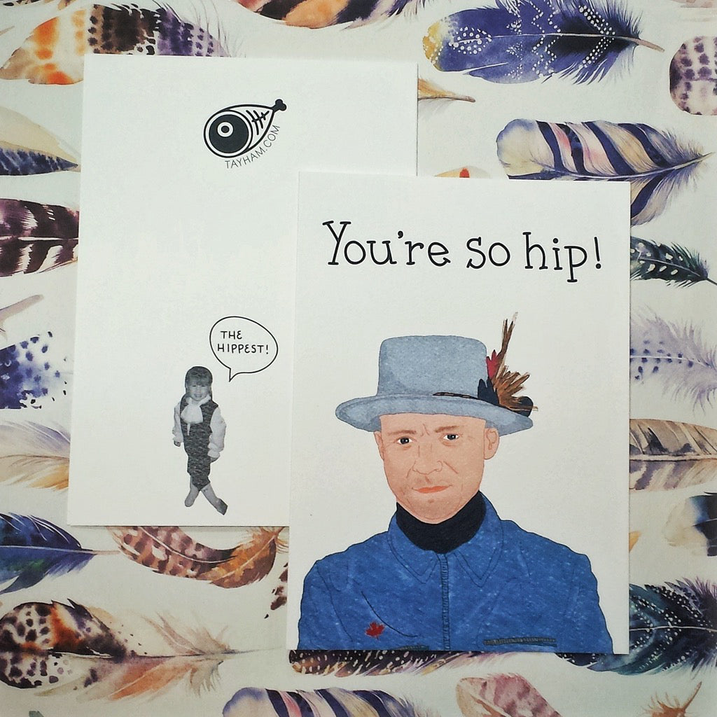 Gord Downie You're So Hip Card