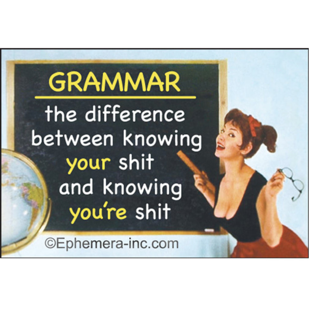 Grammar The Difference Between... Magnet