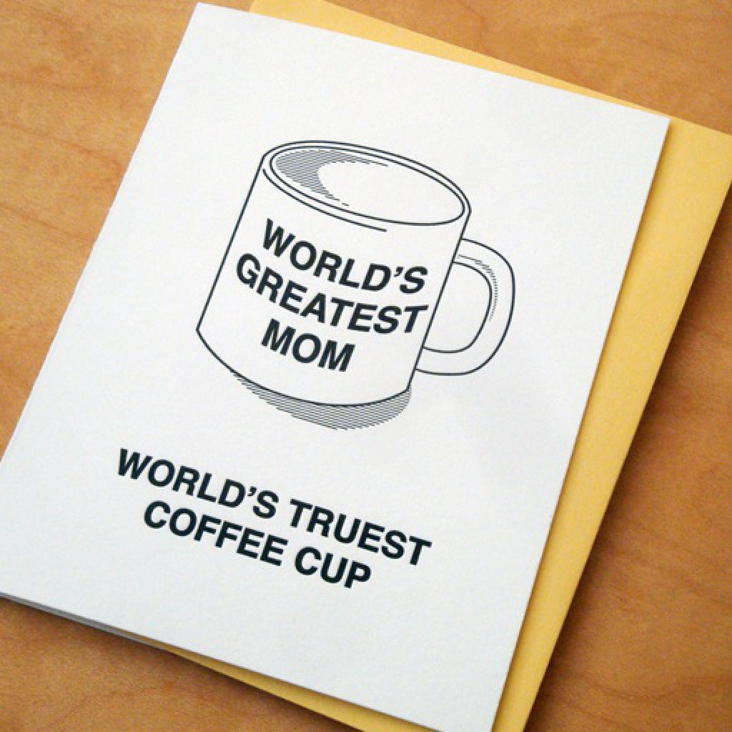 Great Mom Mug Card angle shot