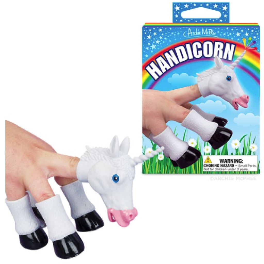 Hand Unicorn Finger Puppets action shot
