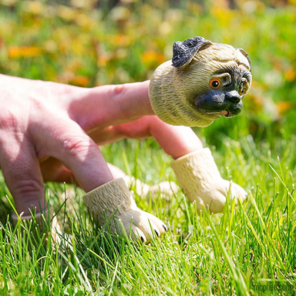 Handipug Finger Puppets lifestyle 2