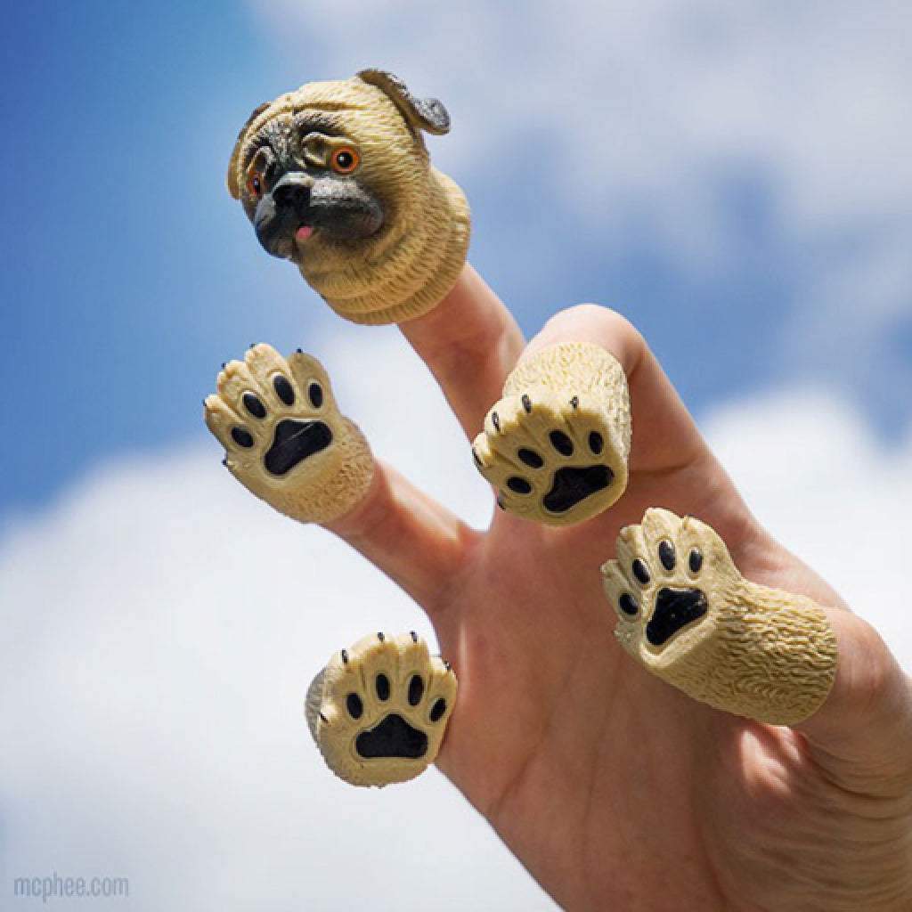 Handipug Finger Puppets lifestyle