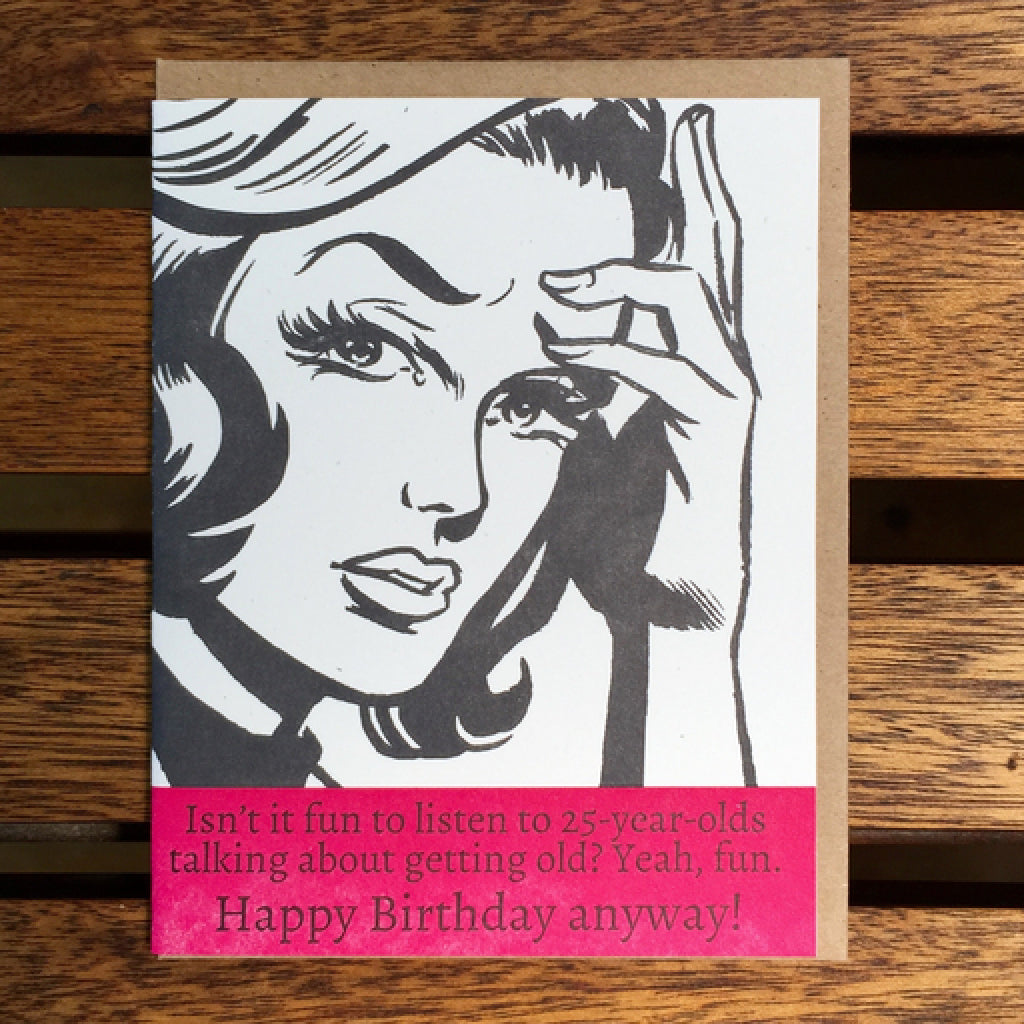 Happy Birthday Anyway Card
