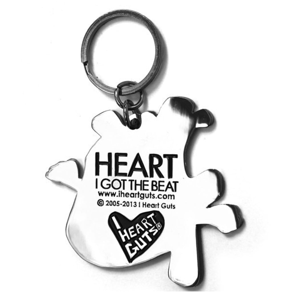 Heart Key Chain back