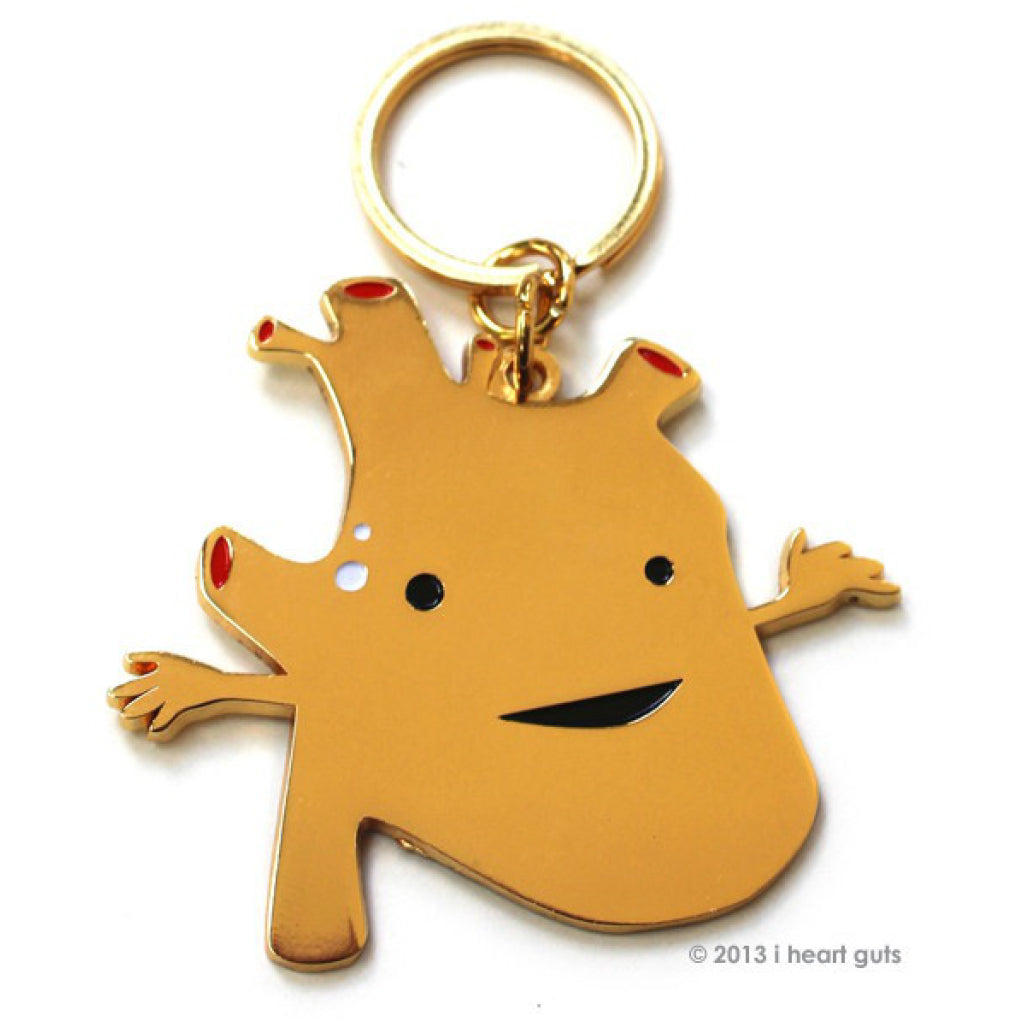 Heart of Gold Key Chain