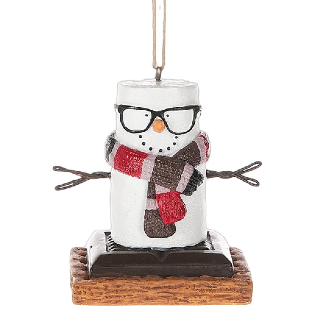 Hipster Smores Ornament