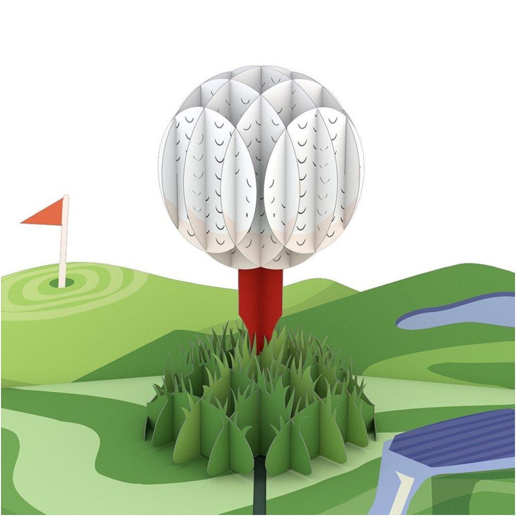 Hole In One Card 3D Pop Up Card