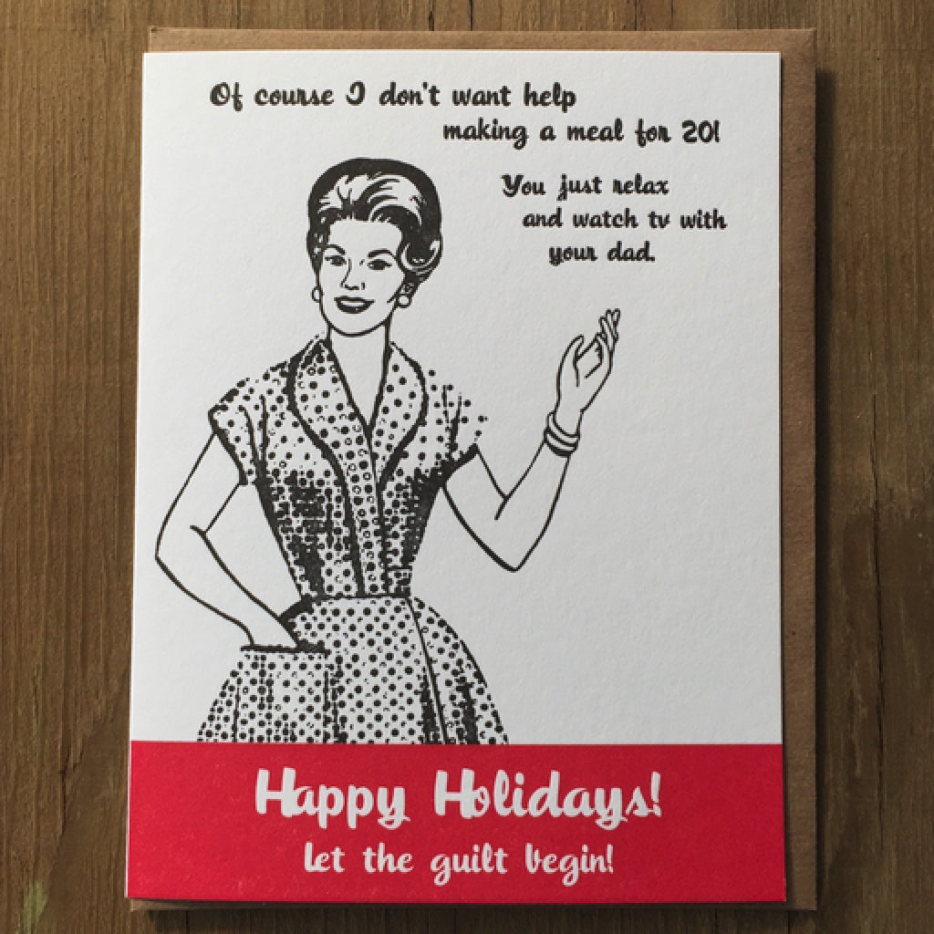 Holiday Guilt Trip Card