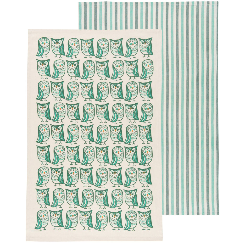 Hootenanny Tea Towels Set of 2