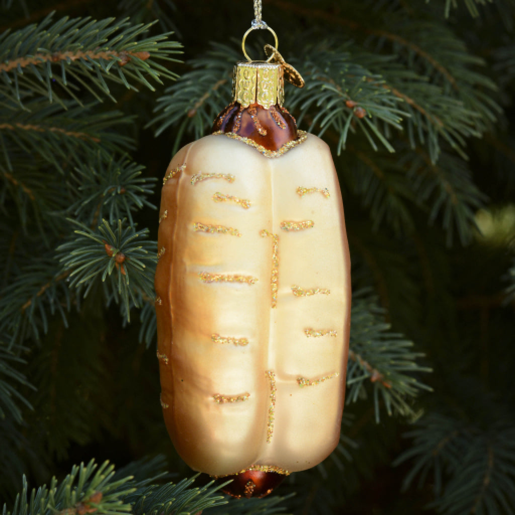 Hot Dog Ornament back