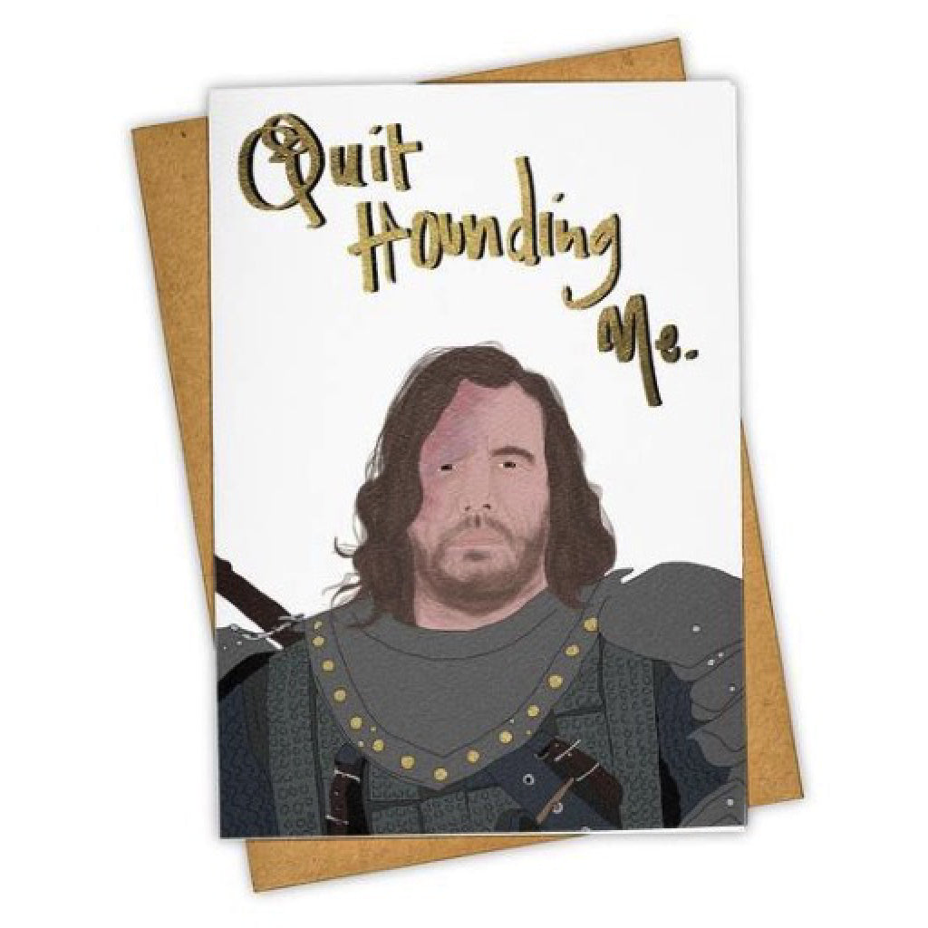 Hound Dog Game of Thrones Card