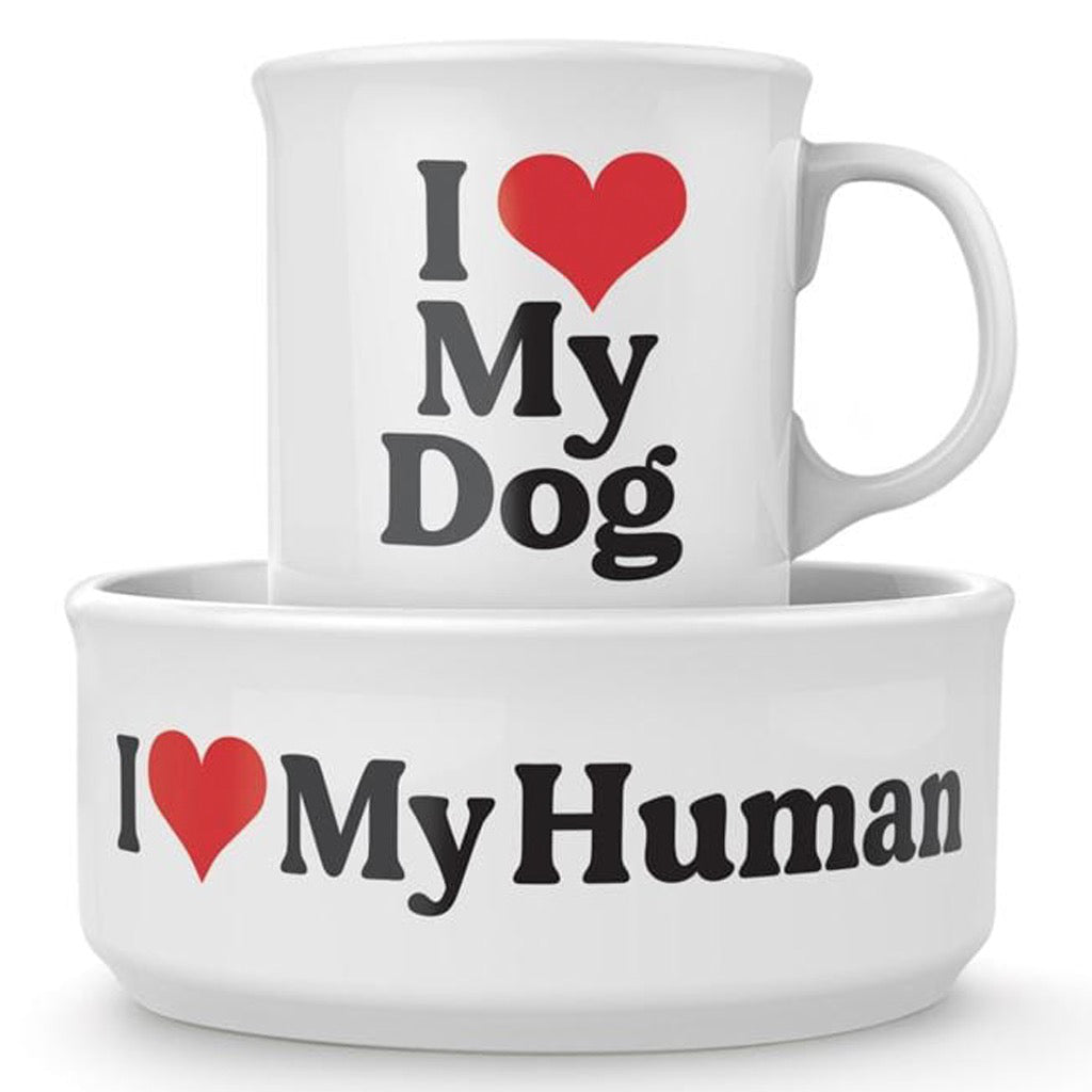 I Love My Dog Ceramic Mug & Dog Bowl Set