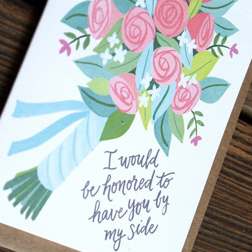 I Would Be Honored Card close-up