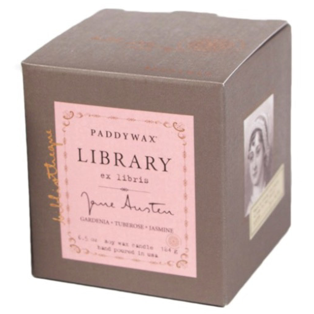 Jane Austen Library Candle box