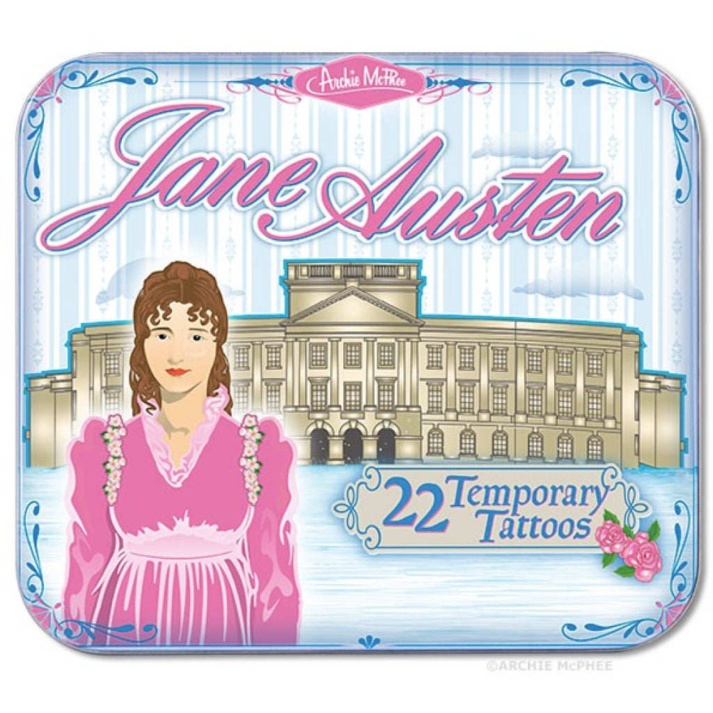 Jane Austen Tattoos packaging