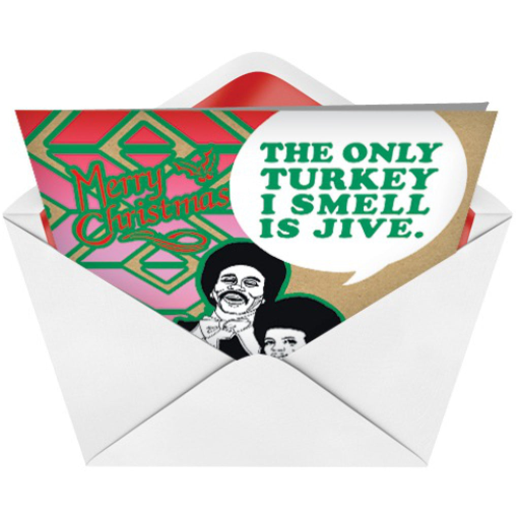 Jive Turkey Card envelope