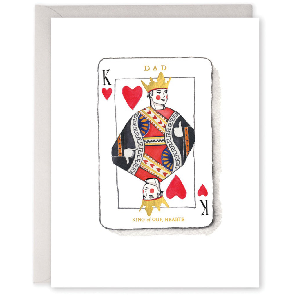 King Dad Playing Card Card