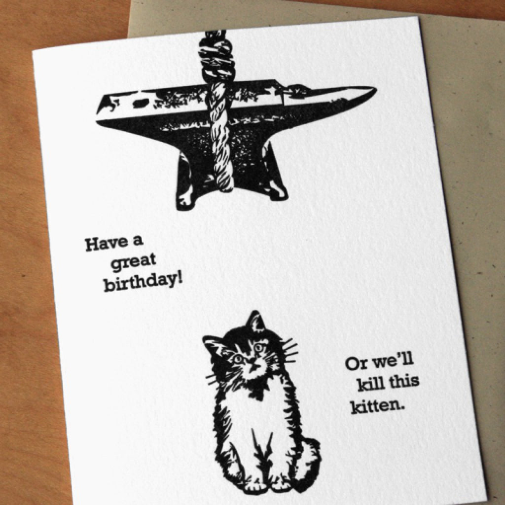 Kitten Birthday Card