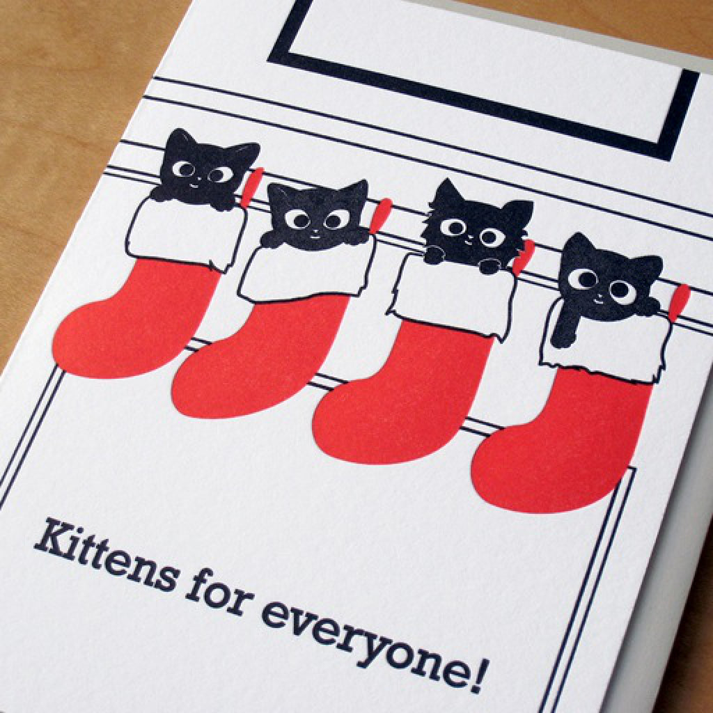 Kittens for Everyone Card close-up