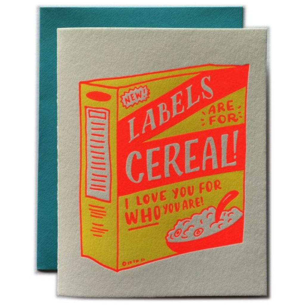 Labels Are For Cereal Card